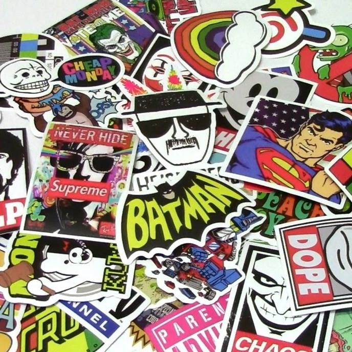 5 stickers Печать стикеров